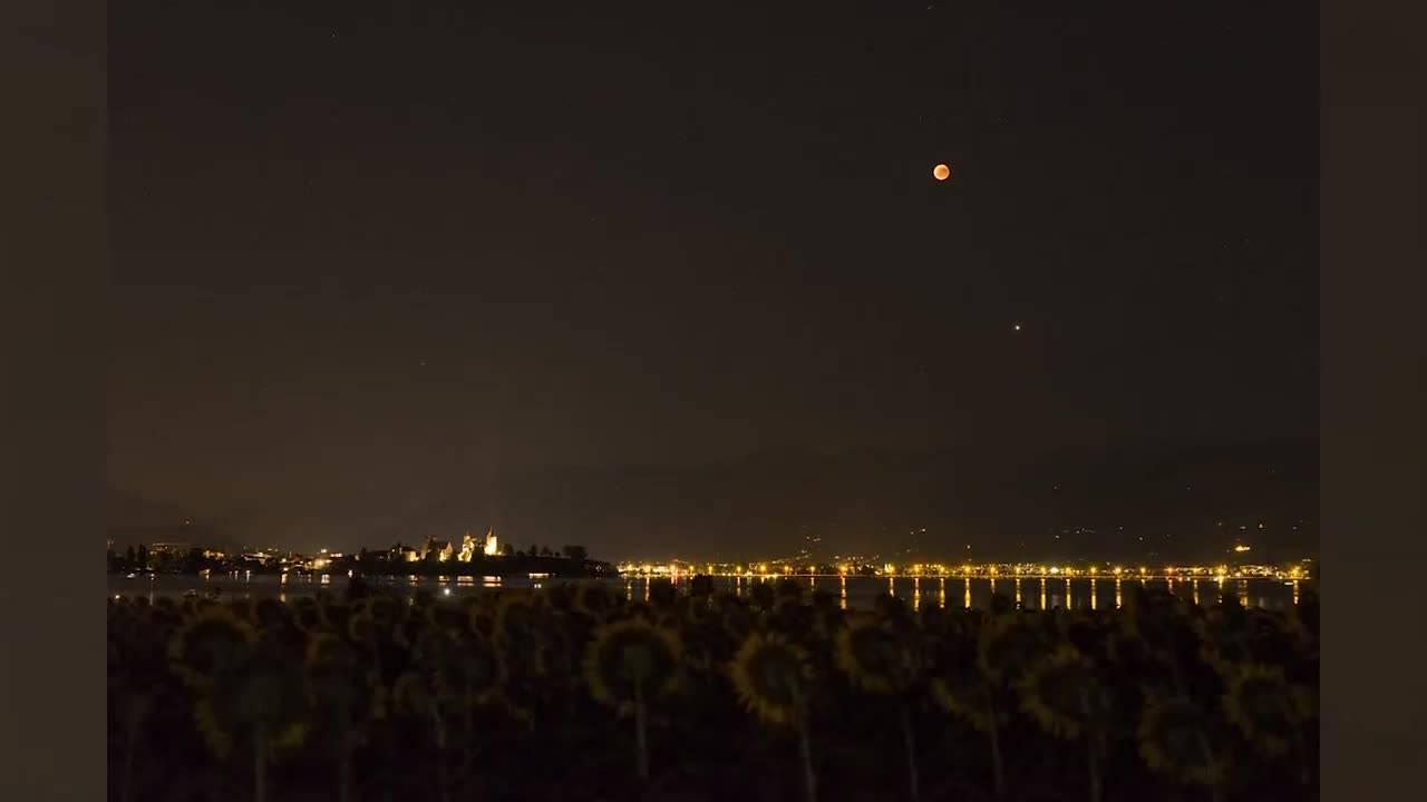 Die Schönsten Bilder Der Jahrhundert Mondfinsternis News Wissen